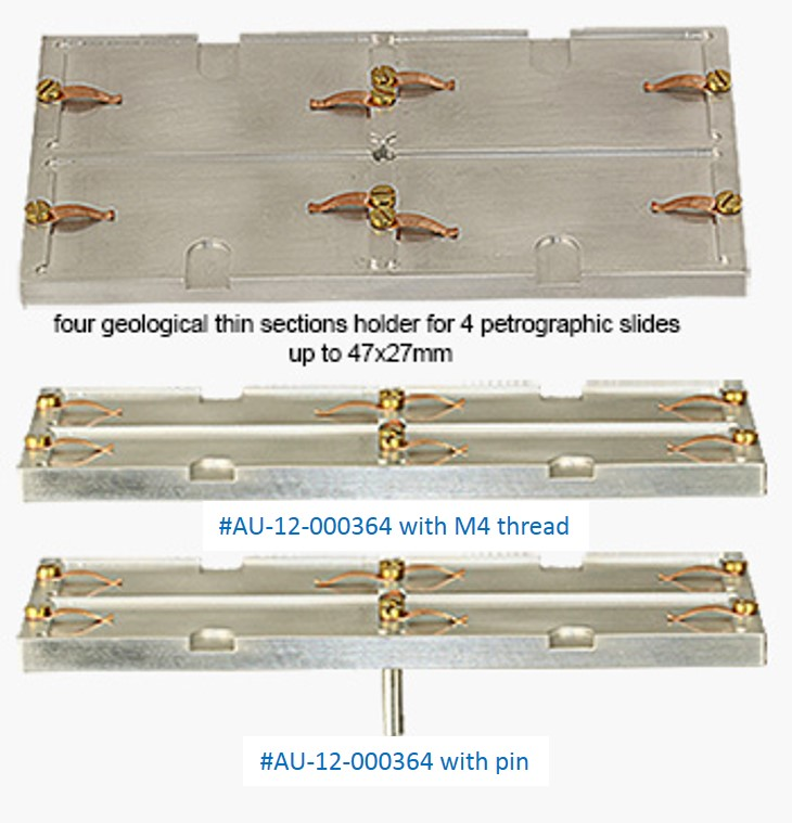 geological thin section and slide holders