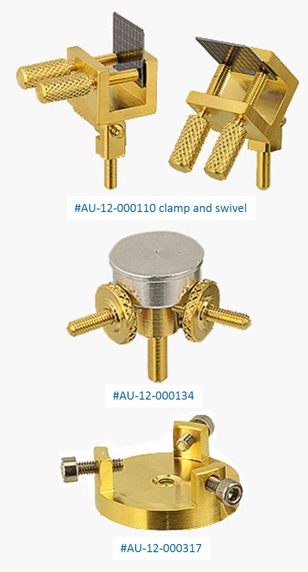 Gold series sample holders and pin stub adapters